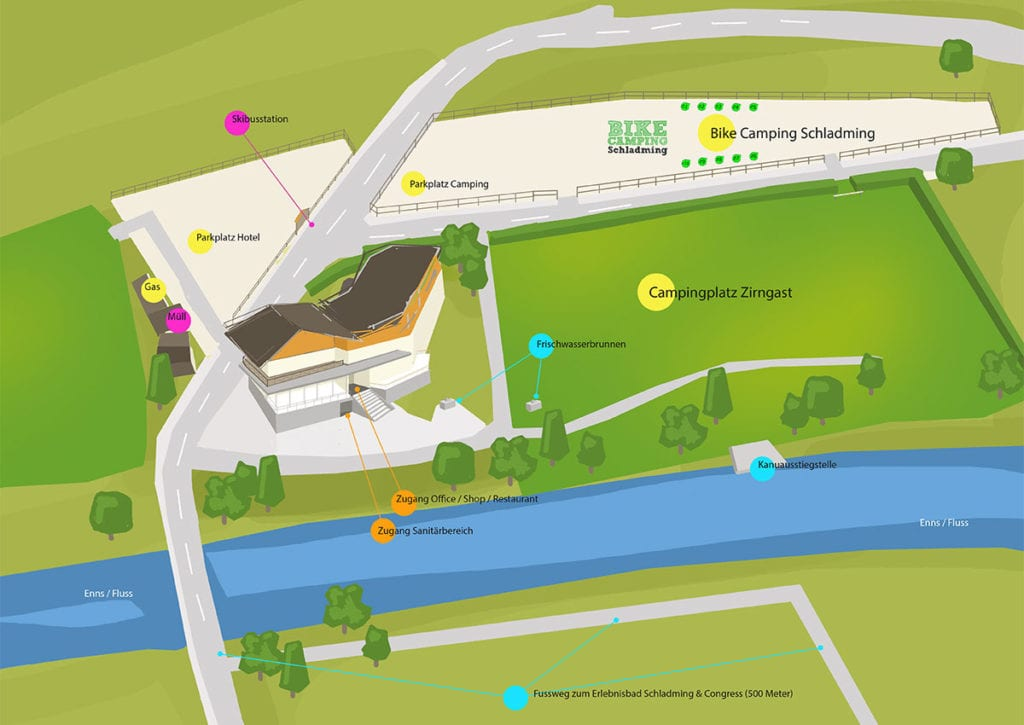 Parkplatz Zirngast - Bike Camping Schladming